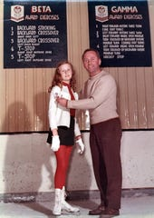 Robert Unger poses with Julia Hardin, one of the Ice Chalet's earliest students. This photo was taken within a few years after the Chalet's opening in 1962. The 2012-2013 season was the organization's 50th season.