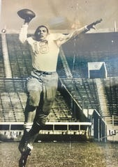 Ollie Keller was a single wing tailback at Memphis State in 1953.