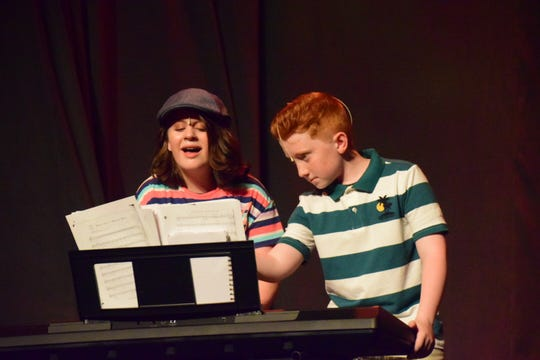 "Kelsi Nielsen (Riley Watkins) and Jack Scott (Jonathan Baker) provide the music for a talent show during ""High School Musical 2."" 4/25/19"