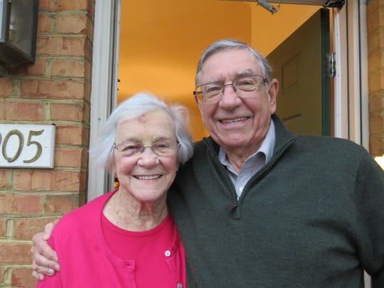 Charlie Van Beke with his mother, Mary Van Beke, January 2019.