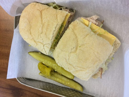 """Using """"craft"""" bread, the turkey and cheese sandwich is a big seller."""