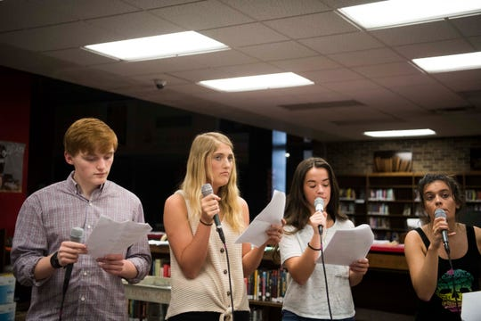 Students rehearse for CTE goes Live 2019, at Central High School Tuesday, April 23, 2019.