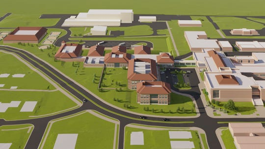 The proposed $108 million Purdue Veterinary Teaching Hospital is planned to go across from Lynn Hall and the Purdue Small Animal Hospital on Harrison Street, on the university's south campus.