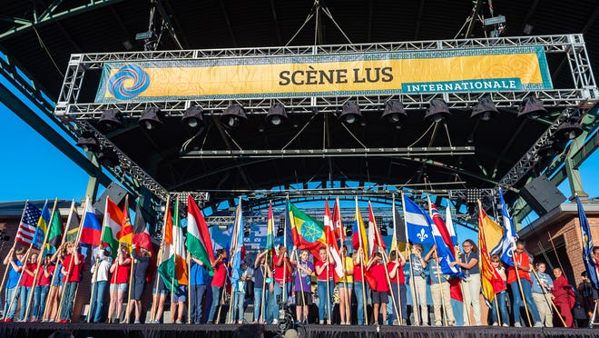 Opening Ceremonies for Festival International de Louisiane. Thursday, April 25, 2019.