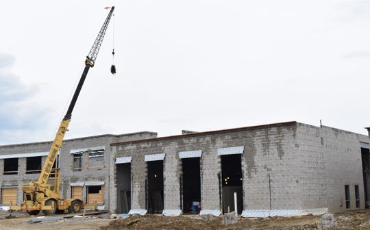 Construction continues on the new General Sherman Junior High on Election House Road. It is set to open sometime in August 2020.