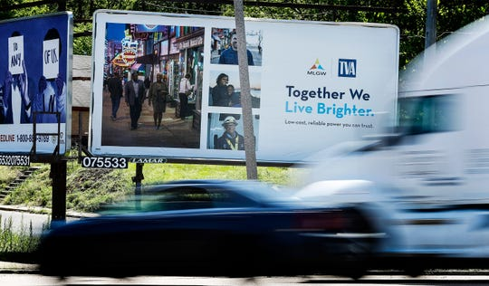 """The Tennessee Valley Authority has an ongoing campaign around Memphis, """"together we live brighter,"""" a slogan that's on a billboard on Crump Blvd, just east of the intersection with Mississippi Blvd. MLGW will need to make a decision on their power supply in the future, either to stay with TVA or go with an alternative supplier, that multiple studies have said could save Memphis hundreds of thousands of dollars."""