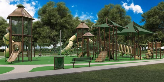 Renderings show a new 'Playground of Dreams' to be installed in Arlington this July.