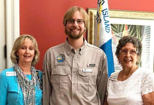 DAR Regent Pat Hancock, Rookery Environmental Specialist Jared Franklin and DAR member Jean Summers.