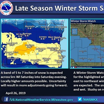 Winter storm watch issued for Saturday: Up to 8 inches of snow could fall