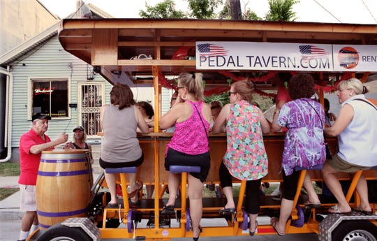 The Pedal Tavern is a people-powered tour of the city while sipping an adult beverage.