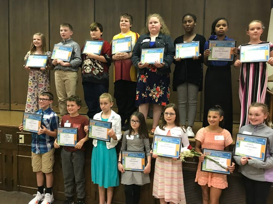The Kiwanis Clubs of Muncie recently honored fifth-graders from Delaware County schools with its Terrific Kids award.