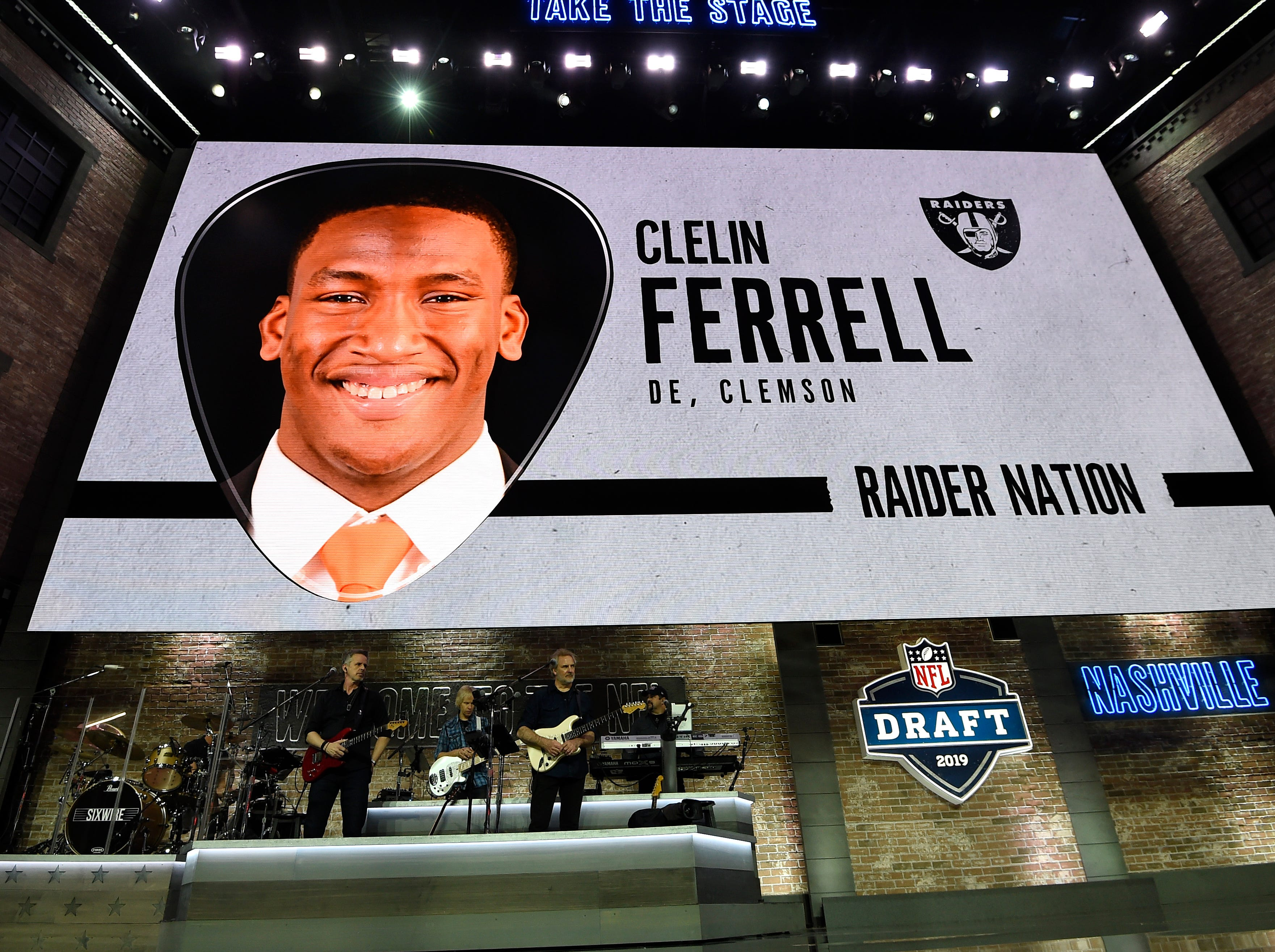 Oakland picked Clelin Ferrell during the first round of the NFL Draft Thursday, April 25, 2019, in Nashville, Tenn.