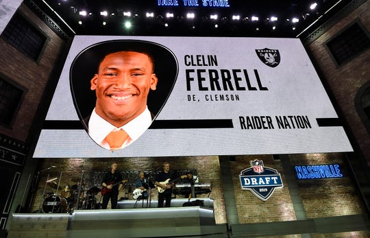 Oakland picked Clelin Ferrell during the first round of the NFL Draft on Thursday.