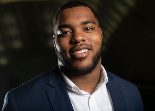 Titans first round NFL draft pick Jeffery Simmons poses for  portrait at Saint Thomas Sports Park Friday, April 26, 2019 in Nashville, Tenn.