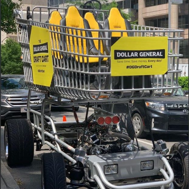 Nashville's newest ride: The Dollar General Draft Cart