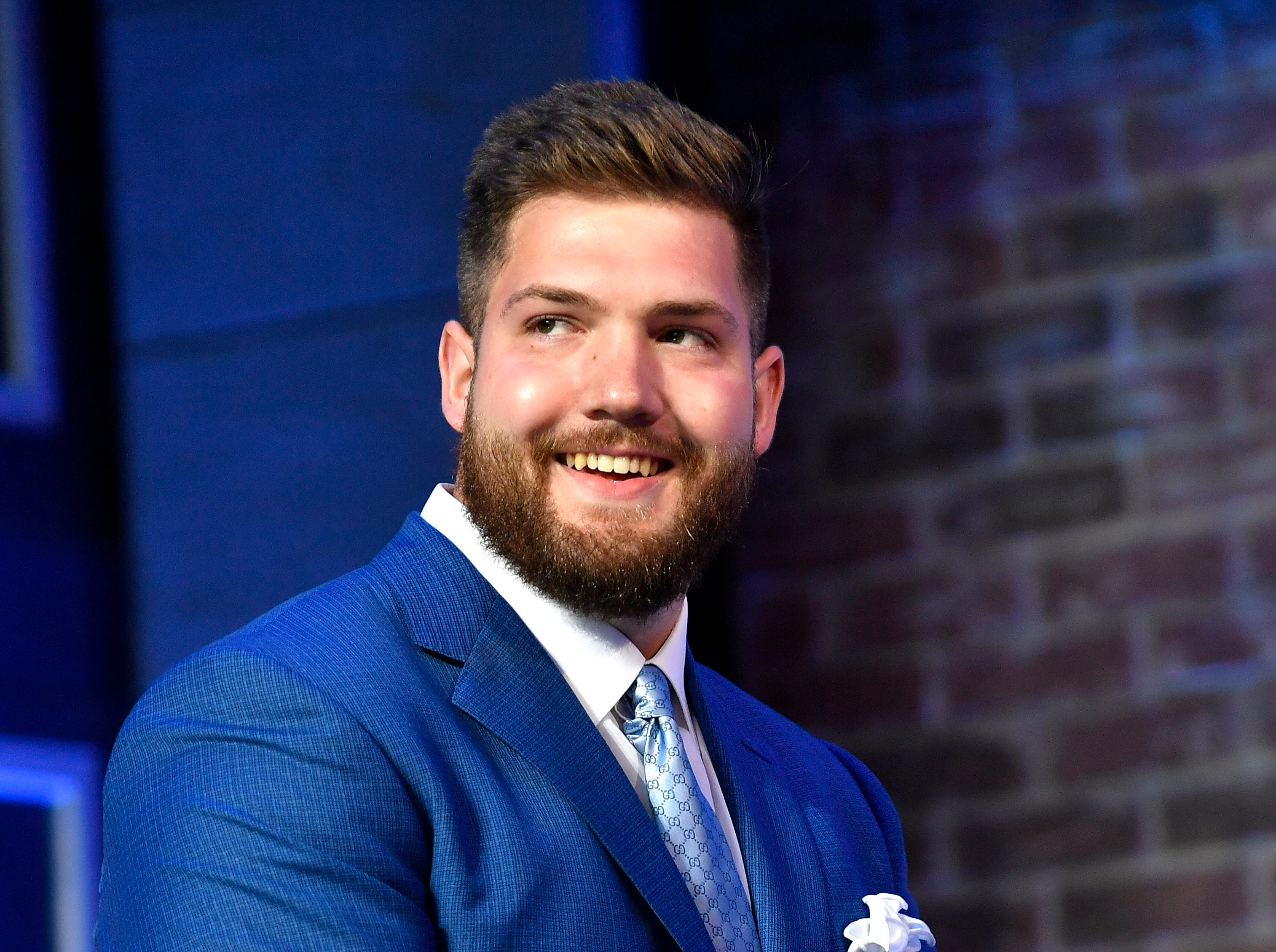 Jonah Williams of Alabama is introduced at the start of the first round of the NFL Draft Thursday, April 25, 2019, in Nashville, Tenn.