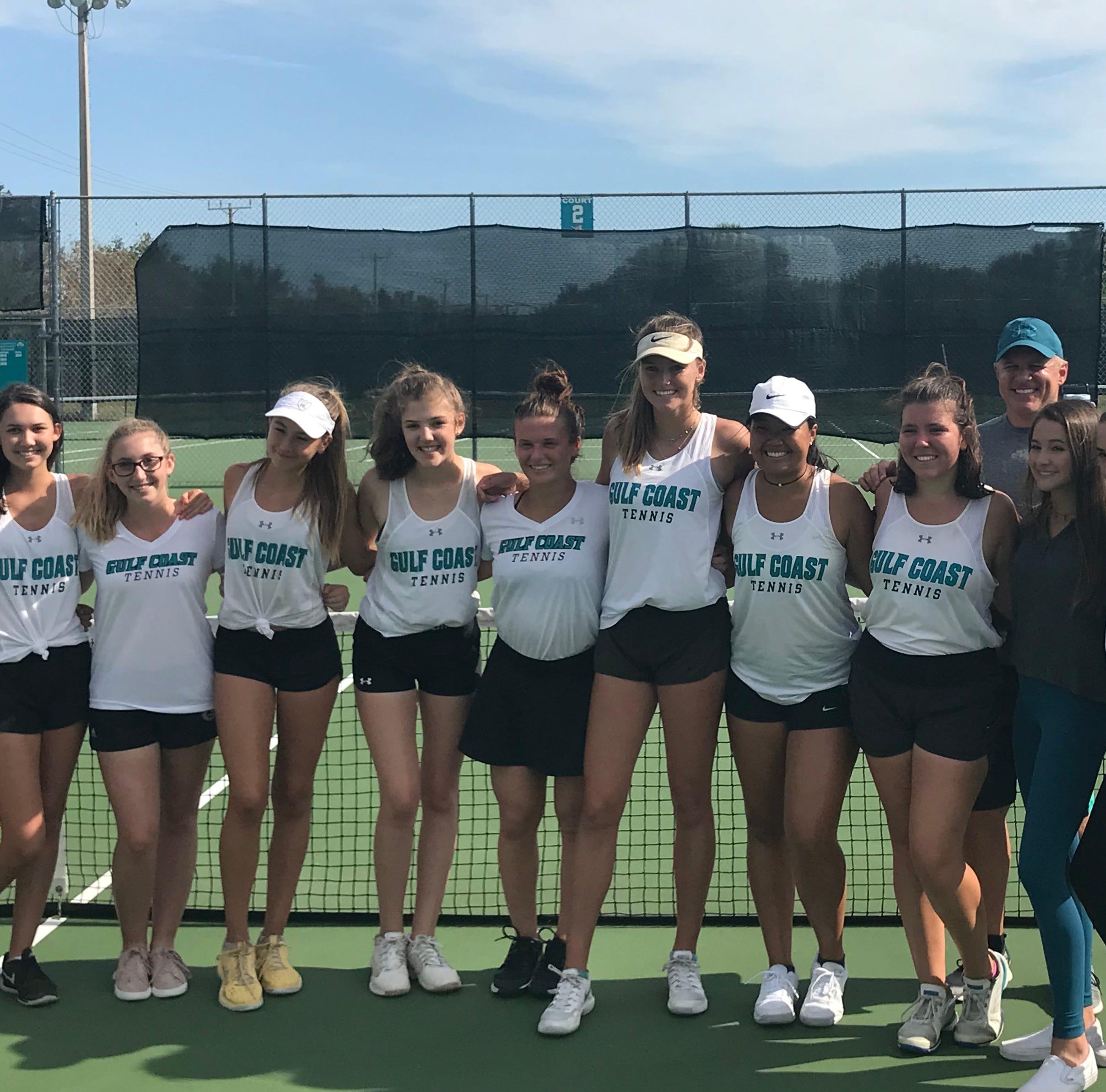 Regional tennis roundup: Gulf Coast girls blank Barron for fourth straight regional crown