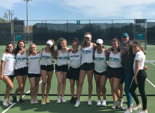 The Gulf Coast girls tennis team defeated Barron Collier 4-0 for its fourth consecutive regional championship Thursday. The Sharks, who also won the 2017 state title, became the first team in the history of the Gulf Coast athletic program to capture four consecutive regional crowns.