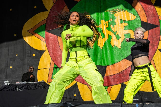 Ciara performs at the New Orleans Jazz and Heritage Festival on Thursday, April 25, 2019, in New Orleans.