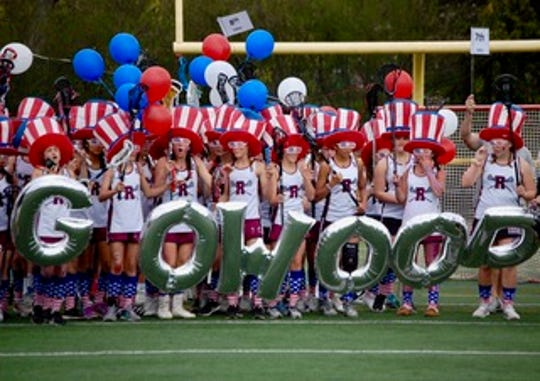 From 2018 Ridgewood's LAX Day. One of the youth teams shows its spirit.