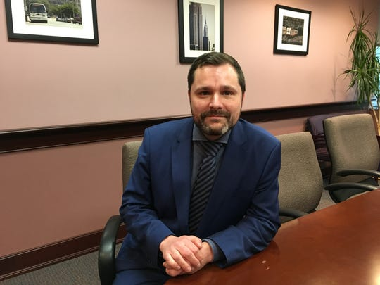 Stewart Mader, NJ Transit's first Customer Advocate and Chief Customer Experience Officer, at the agency's headquarters in Newark, on Friday, April 26, 2019.