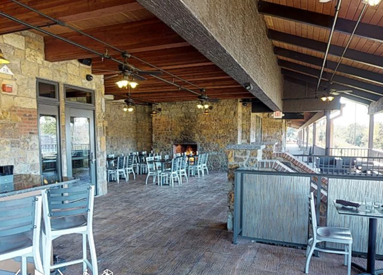 The Rail Steakhouse has two distinct outdoor spaces