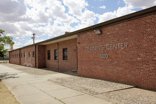 The former U.S. Army Reserve Center at 1300 W. Brown Road in Las Cruces is being leased by the city to provide assistance to asylum applicants being dropped off in the city by U.S. Border Patrol. Friday, April 26, 2019.