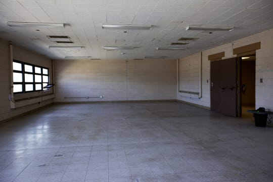 Space for cots has been prepared with minor repairs, cleaning, and checks of electrical and plumbing systems at the former U.S. Army Reserve Center at 1300 W. Brown Road in Las Cruces. Friday, April 26, 2019.