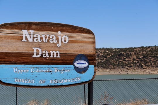 Navajo Lake is pictured, April 18, 2019, in the community of Navajo Dam.