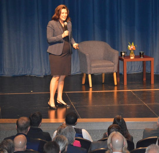 Gov. Gretchen Whitmer brought her Budget Town Hall Tour to Livonia Stevenson High School on Thursday, April 25, 2019.