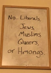 Photos involving UW-Oshkosh students that contain racist, antisemitic, homophobic and Islamophobic messages and symbols are circulating on social media.