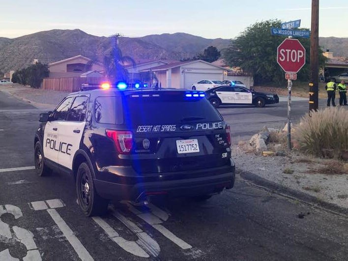 Desert Hot Springs police have arrested a 53-year-old Desert Hot Springs woman on suspicion of driving intoxicated by drugs andgross vehicular manslaughter in a crash that killed a 76-year-old man crossing the street Thursday evening, April 25, 2019.