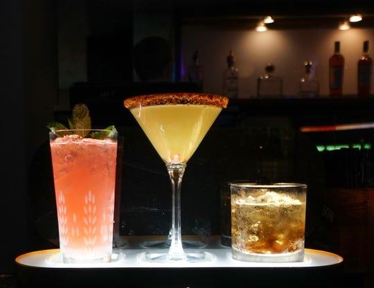 Signature cocktails at Club Mezz, Agua Caliente Casino.