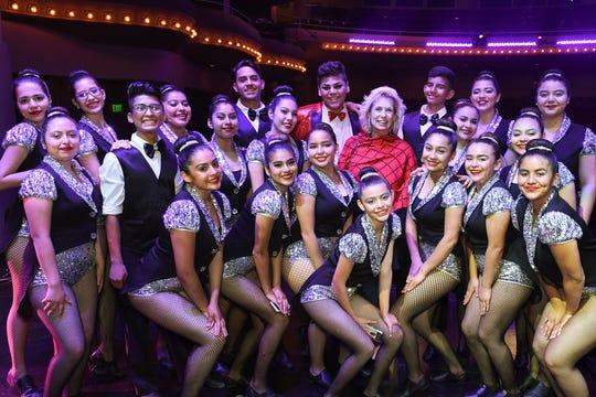 Topaz Circle Sponsor Sarah Milmet with Finalists Coachella Valley High School Dance Team