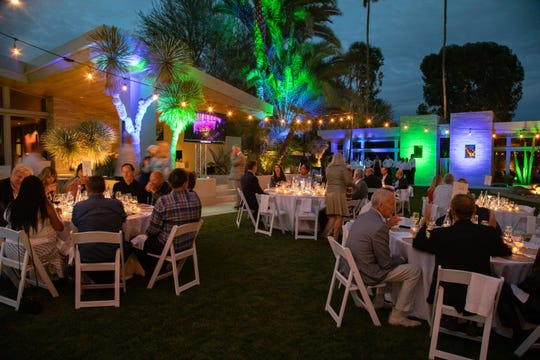 A beautiful setting for dinner at the Cashman home. Guests changed tables after every course.