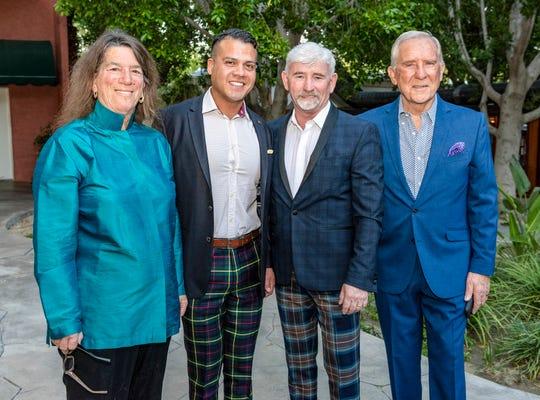 From left: Arlene Rosenthal, Willie's husband Alberto Gonzalez, Willie Rhine, and Brian Webb