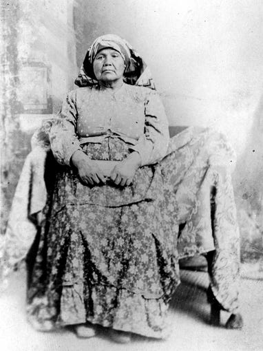An undated photo shows Maria Levi Augustine, wife of Captain Vee-Vee Augustine, the namesake of the reservation.