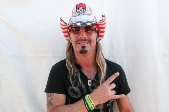 Bret Michaels poses for a photo at Stagecoach Festival on Friday, April 26, 2019.