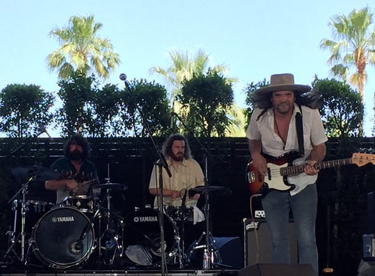 "The Cordovas cover the Grateful Dead's classic ""Truckin' "" on the Palomino Stage at Stagecoach country music festival in Indio, Calif., on Friday, April 26, 2019."