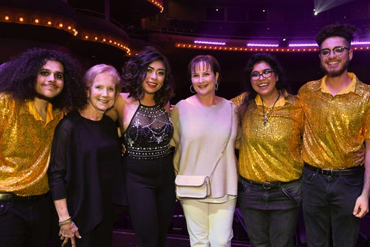 Finalists The Sol Suns with Judy Appelbaum (second from left) and Opal Circle Sponsor Barbara B. Appelbaum (fourth from left)