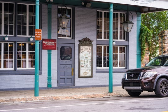 """The city of Pensacola has designated a parking space in front of Seville Quarter for """"historic fire truck parking."""""""