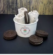 Rolled ice cream from Dani Rose Crafted Cream.
