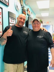 "From left to right, Jonathan Morse and Chris ""Rudy"" Mignone, the owners of Johnny & Rude's."