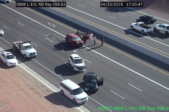 Collision on Loop 101 in Chandler on April 25, 2019.