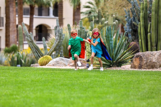 Young guests become superkids at the resort's Superhero Training Academy.