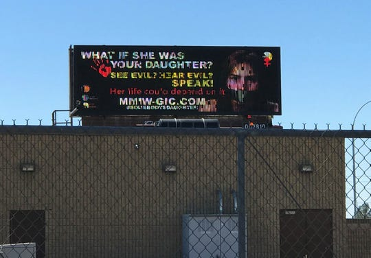 The billboard dedicated to raise awareness about Missing and Murdered Indigenous Women went on display April 25. It can be seen driving east on Indian School Road near the on ramp for I-17.