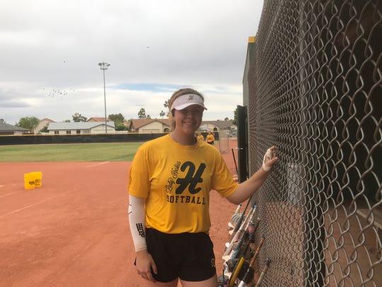 Scottsdale Horizon High School pitcher Morgan Leinstock.