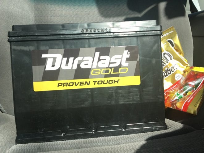 Car batteries should last three to five years. Not in Arizona.  (Gummy bears for fuel.)