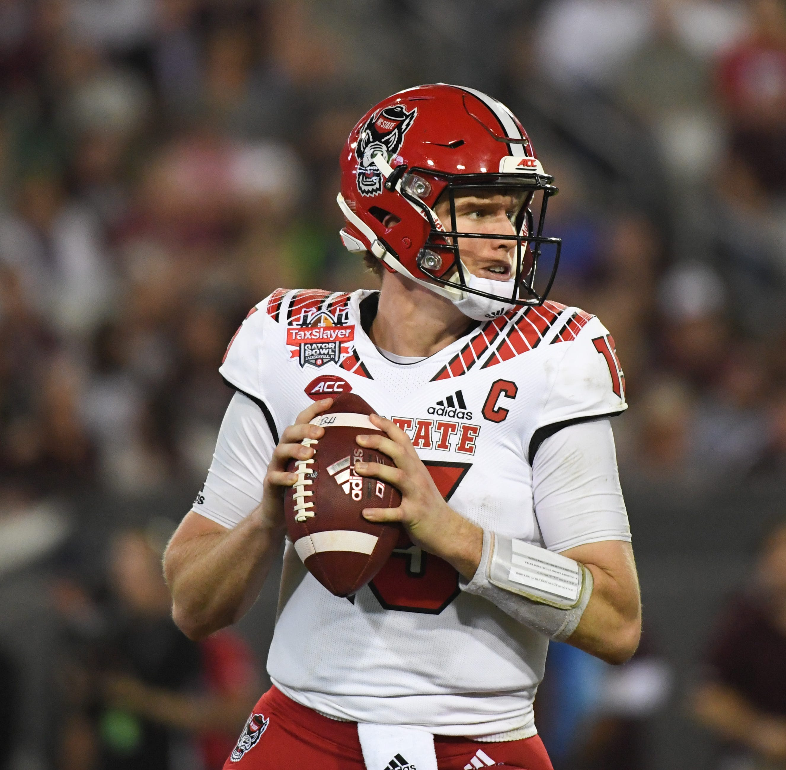 Bengals trade up for NC State quarterback Ryan Finley