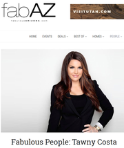 Screenshot of fabAZ featuring Scottsdale restaurant owner Tawny Costa